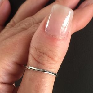Rope Twist Silver Band Thumb/Finger Ring Solid 925